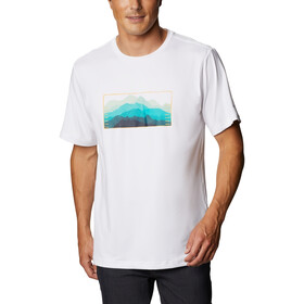 Columbia Tech Trail Graphic Tee Men, white elevated fill